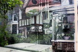 Just one example of the street art movements to revitalize the older neighborhoods.